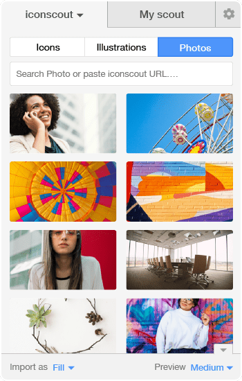 Download Photos with Icondrop