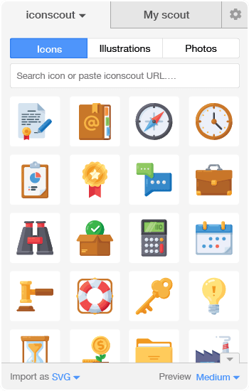 Download Icons with Icondrop