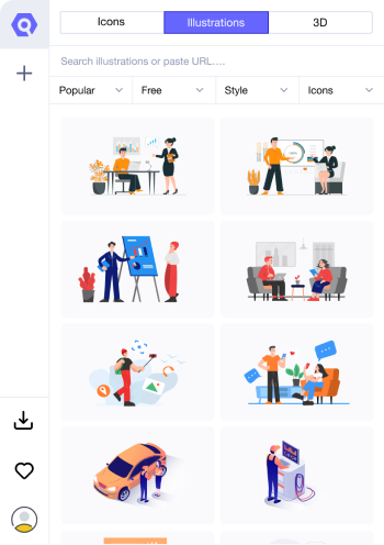 Download Illustrations with Icondrop