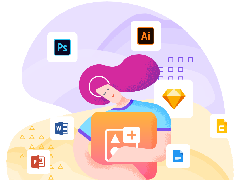 Keep all your design resources with you - Icondrop